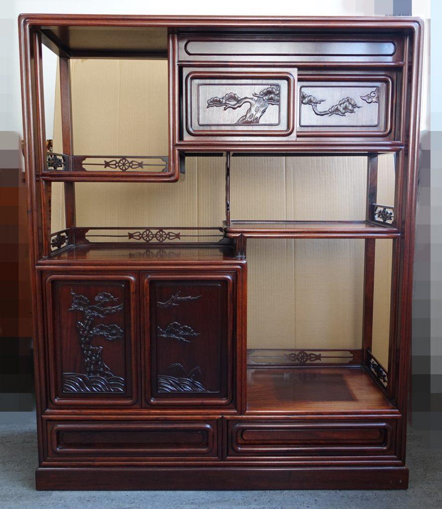 【茶棚・飾り棚】「唐木茶道具」を買取り致しました。
