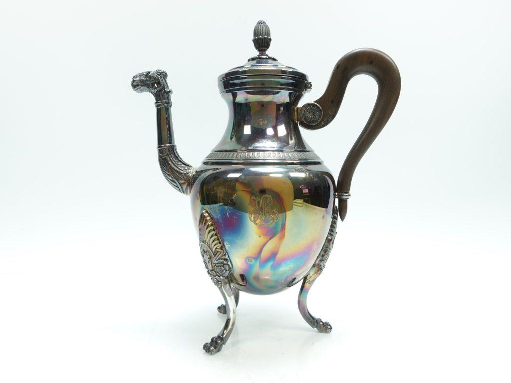 【銀製 洋食器】クリストフル「コーヒーポット」を買取り致しました。