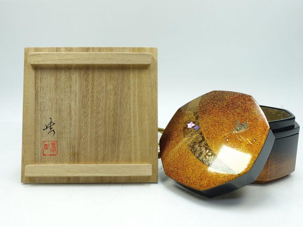 【漆器・蒔絵】田中貴司 「秋月 宝石箱」を買取り致しました。