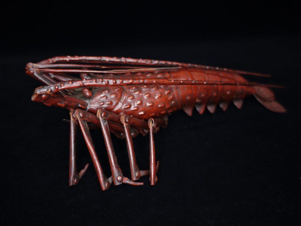 【銅製品】藤原弘美 「自在置物・海老」を買取り致しました。
