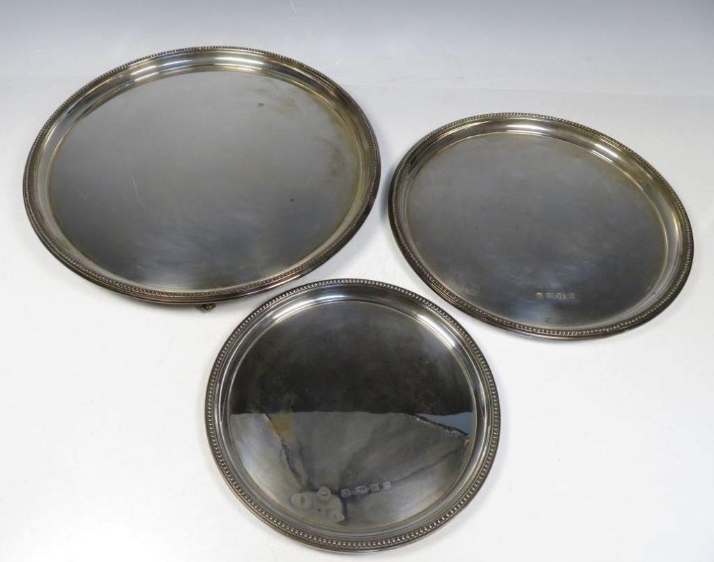 【銀製 洋食器】無銘「銀製プレート」を買取り致しました。