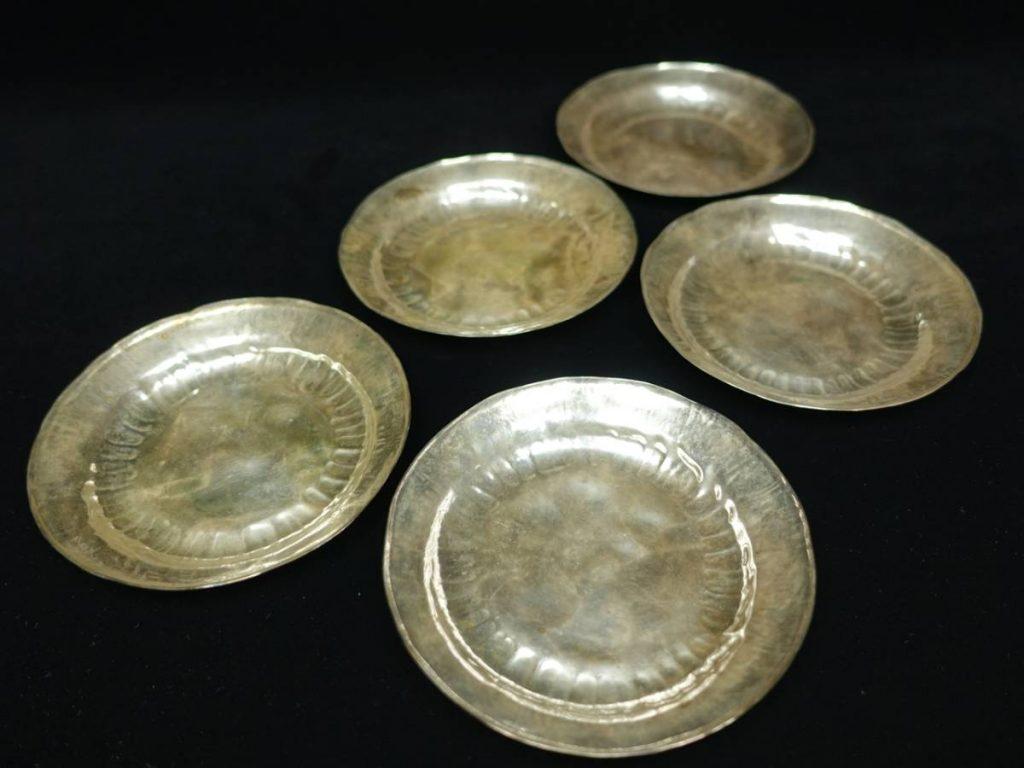 【金工品その他】中川浄益「南鐐青海盆五客」を買取り致しました。