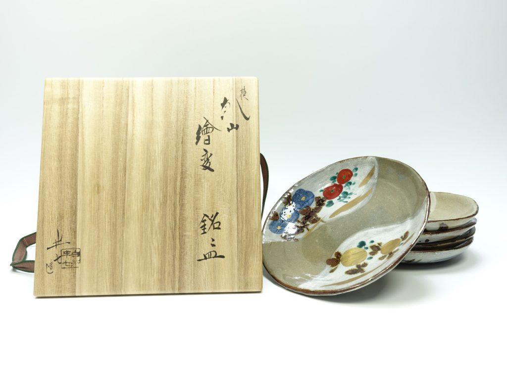 【作家物(磁器)】白井半七「模乾山絵変銘々皿」を買取り致しました。