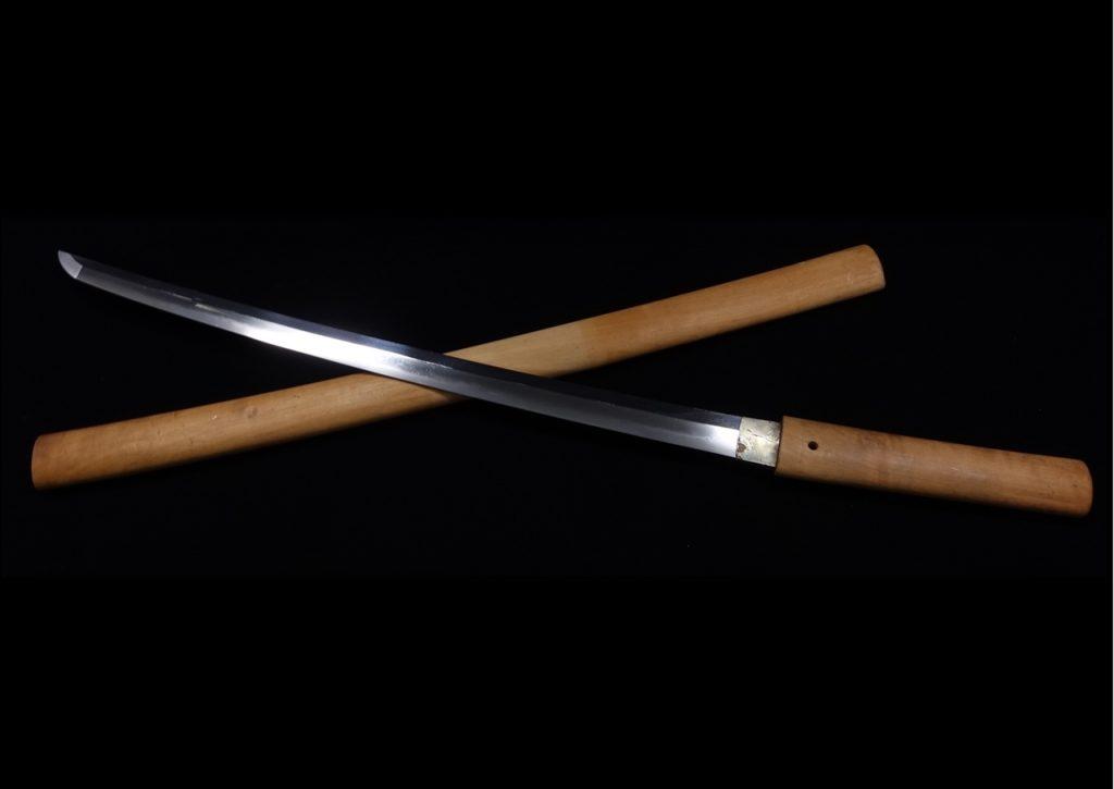 【刀剣】 無銘「白鞘脇差(長さ:53.2㎝)」を買取り致しました。