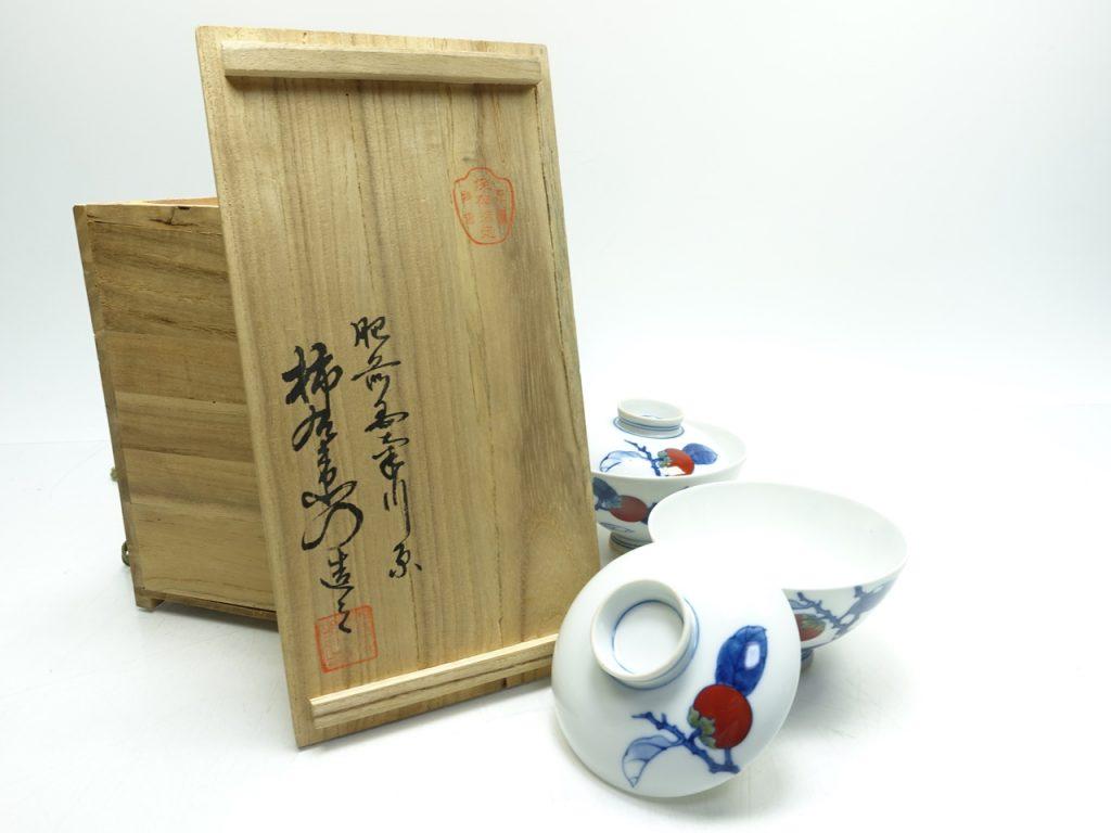 【作家物(磁器)】酒井田柿右衛門「柿文煎茶器」を買取り致しました。