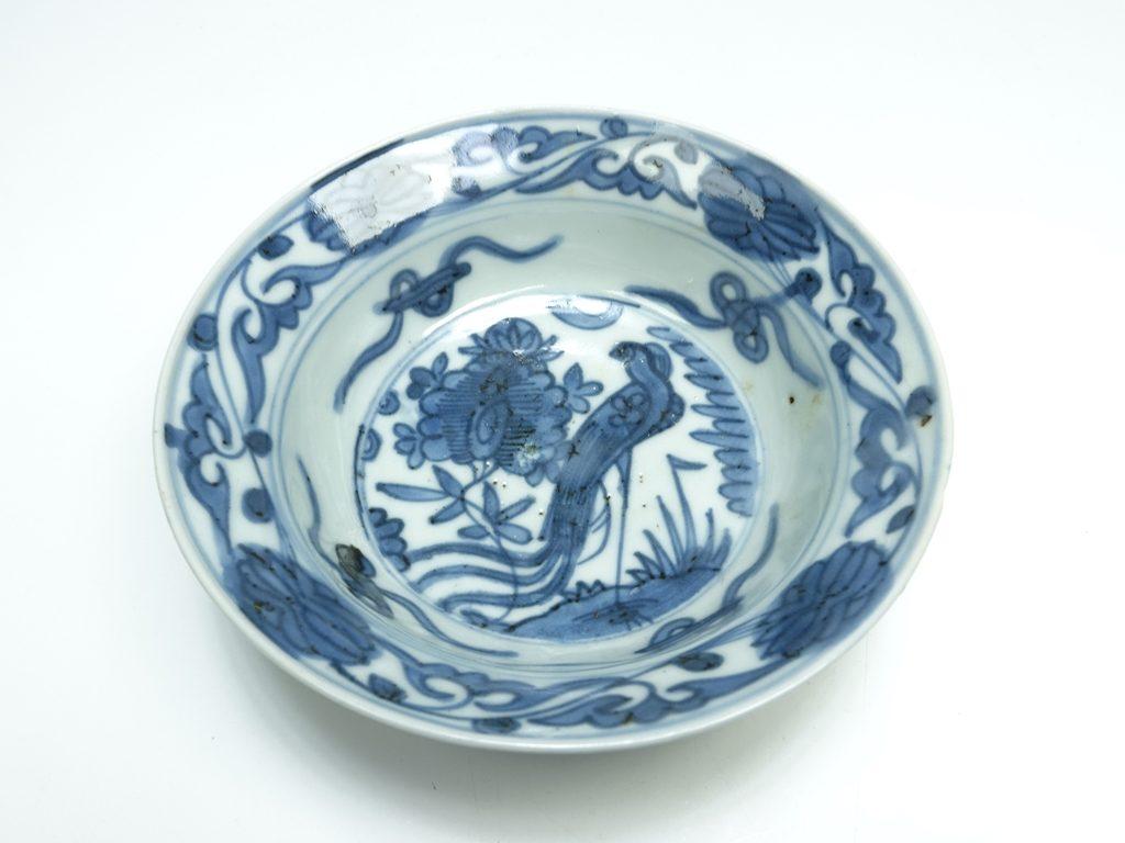 【陶磁器 その他】 無銘 「染付花鳥文有田皿」を買取り致しました。