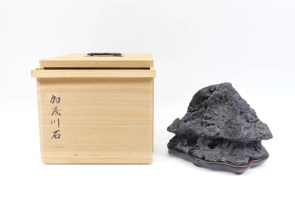 【水石】 加茂川石 茅舎石を買取り致しました。