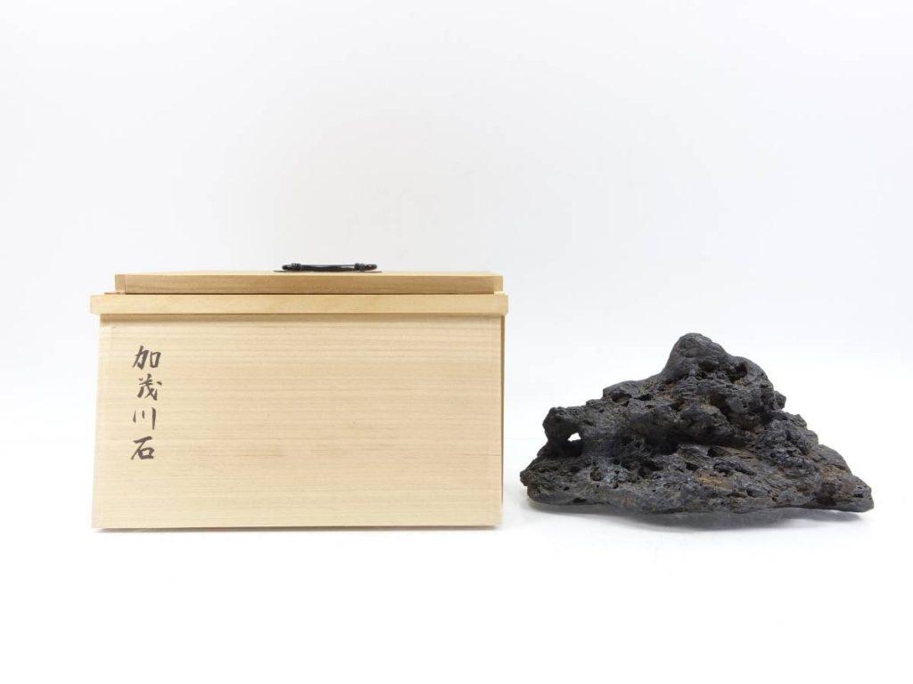 【水石】 加茂川石 土坡石を買取り致しました。