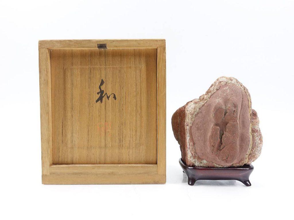 【水石】 揖斐川石 「銘:和」を買取り致しました。