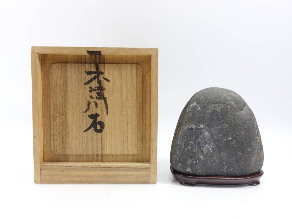【水石】 木津川石 「銘:岩戸」を買取り致しました。