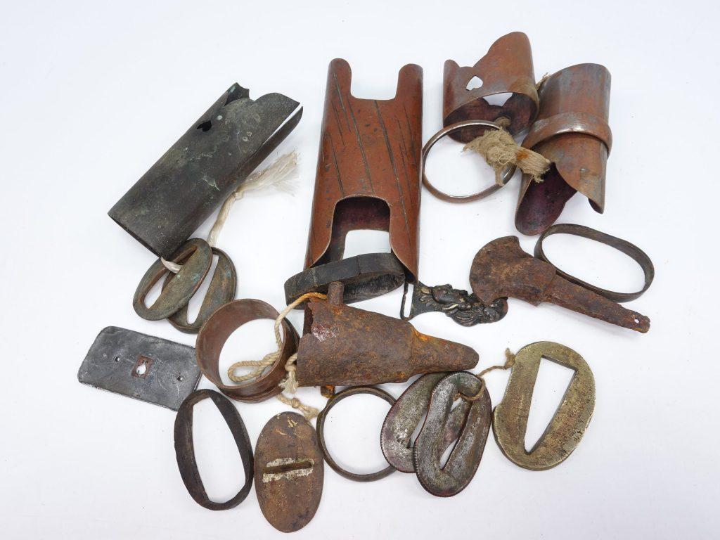 【刀装具・その他】 鐺・切羽・頭などを買取り致しました。